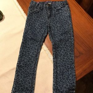 Leapard print jeans